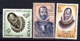 Serie  Nº 418/9 + A-211 Cervantes   Bolivia - Bolivia