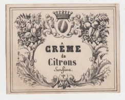 BB936 - Etiquette Ancienne Crême De Citrons SURFINE - Andere Sammlungen