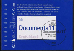 Bund 2002, Michel# Block 58 O  11. Documenta, Kassel Mit ESST Berlin - [7] Federal Republic