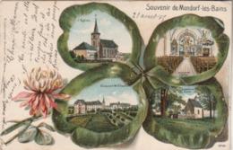 Souvenir De Mondorf-les-Bains. (multi Vues). Carte Gaufrée. - Mondorf-les-Bains
