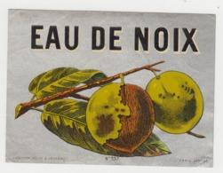 BB939 - Etiquette Ancienne EAU DE NOIX - Haberer - Douin - Jouneau - Andere Sammlungen