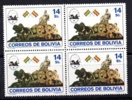 Sello  Nº 603 En Bloque De 4  Bolivia - Bolivia