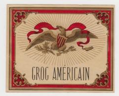 BB940 - Etiquette Ancienne GROG AMERICAIN - Haberer - Douin - Jouneau - Andere Sammlungen