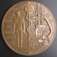 Médaille Société Protection De Médecine Santé Travail Normandie, Par Coeffin - France
