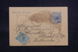 BRÉSIL - Entier Postal + Complément De Récife Pour Les Pays Bas En 1904 - L 43210 - Postwaardestukken