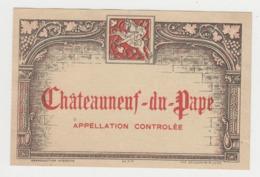 BB942 - Etiquette Ancienne Châteauneuf Du Pape - Appelation Controlée - Gougenheim Lyon - Andere Verzamelingen