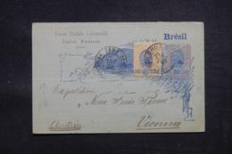 BRÉSIL - Entier Postal + Complément De Santa Cruz Pour Wien En 1898 - L 43211 - Postwaardestukken
