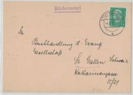 QS239  Stuttgart 1932  Bücherzettel,  Cover To St.Gallen Switzerland - Germania