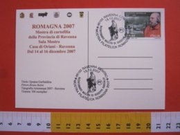 A.04 ITALIA RAVENNA - 2007 200 ANNI NASCITA GIUSEPPE GARIBALDI RISORGIMENTO UNITA' STORIA STORY CARD CAMICIA ROSSA - Storia