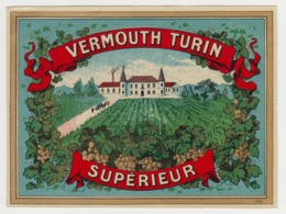 BB945 - Etiquette Ancienne VERMOUTH TURIN - Supérieur - Unclassified