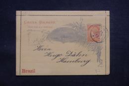 BRÉSIL - Entier Postal Pour Hamburg En 1892 - L 43213 - Postwaardestukken