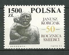 POLAND MNH ** 3207 JANUSZ KORCZAK PROTECTEUR DES ENFANTS JUIFS - Ungebraucht