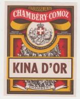 BB946 - Etiquette Ancienne KINA D'OR - Chambéry COMOZ - Inventeurs Du Vermouth Blanc - Andere Sammlungen