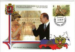 WWF  RUSSIA  On Cover - Tiger  /  RUSSIE  Enveloppe - Tigre  2001 - W.W.F.