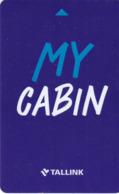 ESTONIA KEY CABIN   Tallink - My Cabin   (Shipping Company) - Cartes D'hotel