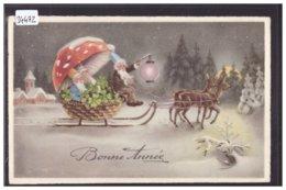 BONNE ANNEE - LUTINS - CHAMPIGNONS - TB - Nieuwjaar