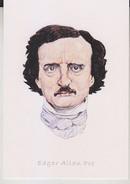 C1 Carte Postale DESSIN JULLIAN Auteur SF Edgar Allan POE - Ecrivains