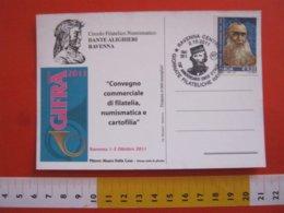 A.04 ITALIA RAVENNA - 2011 150 ANNI UNITA' GIUSEPPE GARIBALDI RISORGIMENTO STORIA STORY CARD DIPINTO DONNA IN PISCINA - Storia