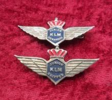 Lotto Due Fregi Vintage KLM Stewardess E Skipper - Forze Aeree