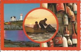 """CP Des Etats Unis """" MAINE VACATIONLAND - Pêche Phare - (Années """"70"""") - Etats-Unis"""