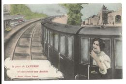 Haute Marne Je Pars De LANGRES Et Vous Envoie Mes Amitiés Train Femme ....G - Langres