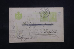 ROUMANIE - Carte De Correspondance De Galatz Pour La Belgique En 1911 - L 43219 - 1881-1918: Charles I