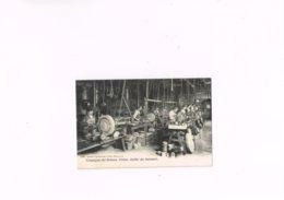 Compagnie Des Bronzes Usines Atelier Des Tourneurs 1950 Désiré Van Dantzig Et Fils Bruxelles,carte Postale1900-10. - Petits Métiers