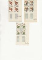 MONACO - TIMBRES N° 537 B + 539 B + 541 A  TOUS BLOC DE 4 AVEC COIN DATE - 1964 -TTB - Mónaco