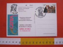 A.04 ITALIA RAVENNA - 2001 GIFRA GIORNATE FILATELICHE RAVENNATE DANTE ALIGHIERI GUIDARELLO UOMO D'ARME CARD ARALDICA - Celebrità