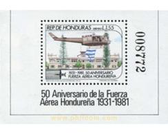 Ref. 324157 * MNH * - HONDURAS. 1983. 50 ANIVERSARIO DE LA FUERZA AEREA HONDUREÑA - Helicópteros