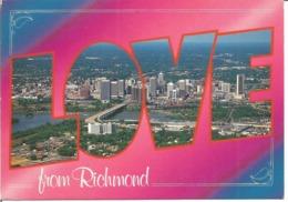 """CP Des Etats Unis """" Love From RICHMOND - VIRGINIE 1996 """" - Richmond"""