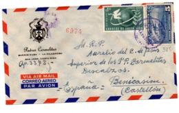 Carta De Costa Rica De 1952 Con Viñeta Por Detras - Costa Rica