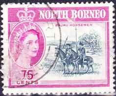 Nordborneo - Elisabeth II. Bajau-Reiter (MiNr: 324) 1961 - Gest Used Obl - North Borneo (...-1963)