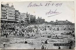(1220) Ostende  - Vue Sur La Plage - 1919 - Oostende