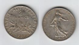France 2 Francs 1909  2F - I. 2 Francs
