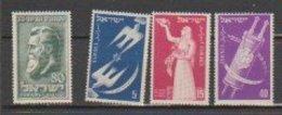 Israel  1951  N° 49 à 52 Neuf XX - Neufs (sans Tabs)