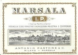 """5427 """" MARSALA I.P.(ITALIA PARTICOLARE)-ANTONIO PASTORE & C.-MILANO-MARSALA """" ETICHETTA ORIGINALE - Altri"""