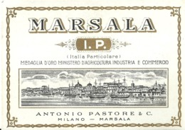 "5427 "" MARSALA I.P.(ITALIA PARTICOLARE)-ANTONIO PASTORE & C.-MILANO-MARSALA "" ETICHETTA ORIGINALE - Labels"