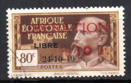 Col17  Colonie AEF Afrique N° 181 Oblitéré Cote 50,00€ - A.E.F. (1936-1958)