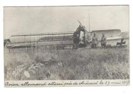 AVIATION SUISSE MIECOURT ALLE MIECOURT 1917 Carte Photo Défauts / FREE SHIPPING REGISTERED - JU Jura