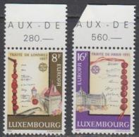 Europa Cept 1982 Luxemburg 2v ** Mnh (44915H) ROCK BOTTOM PRICE - Europa-CEPT