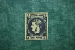 Roumanie 1866 Y&T 14 Papier épais Faux/Forgery? - 1858-1880 Moldavie & Principauté