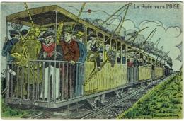 Illustrateur : Vanackère. Humour. Train. La Ruée Vers L'Oise. Pêcheurs. - Humour