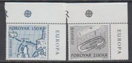 Europa Cept 1982 Faroe Islands 2v (corners) ** Mnh (44915J) ROCK BOTTOM PRICE - Europa-CEPT