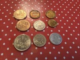 LOT DE 9 Pièces FRANCE - Münzen & Banknoten