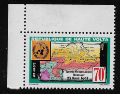 REPUBLIQUE DE HAUTE VOLTA - 1963 - VALORE NUOVO STL DA 70 F. - 3. GIORNATA MONDIALE METEOROLOGICA - IN OTTIME CONDIZIONI - Alto Volta (1958-1984)