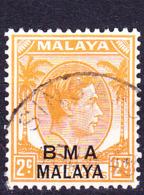 Malaiische Staaten IV Britische Militärverwaltung  - George VI. (MiNr: 2) 1945 - Gest Used Obl - Malaya (British Military Administration)