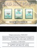 GREECE - Gold Slot Points, Club Hotel Casino Loutraki, Casino Member Card(thin Writing, Black Strip), Used - Casino Cards