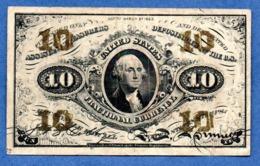 USA   - 10 Cents 3/3/1863  -  Pick # 108  -  état   TB - 1863 : 3. Ausgabe