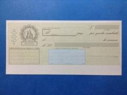 ITALIA REPUBBLICA CAMBIALE NUOVA IN BIANCO DA LIRE 600 - Bills Of Exchange
